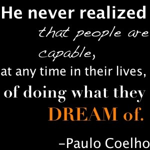 A quote by Paulo Coelho from his book The Alchemist